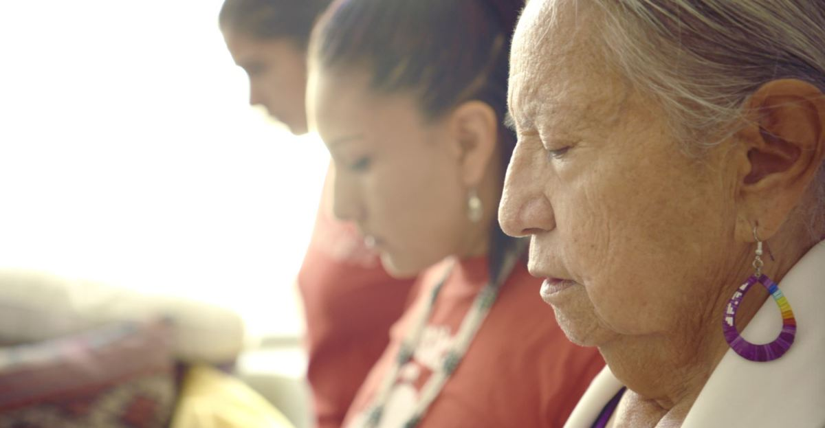 """Lula Red Cloud featured in """"End of the Line: The Women of Standing Rock,"""" directed and produced by Shannon Kring and co-produced by Pearl Daniel Means. (Courtesy image)"""