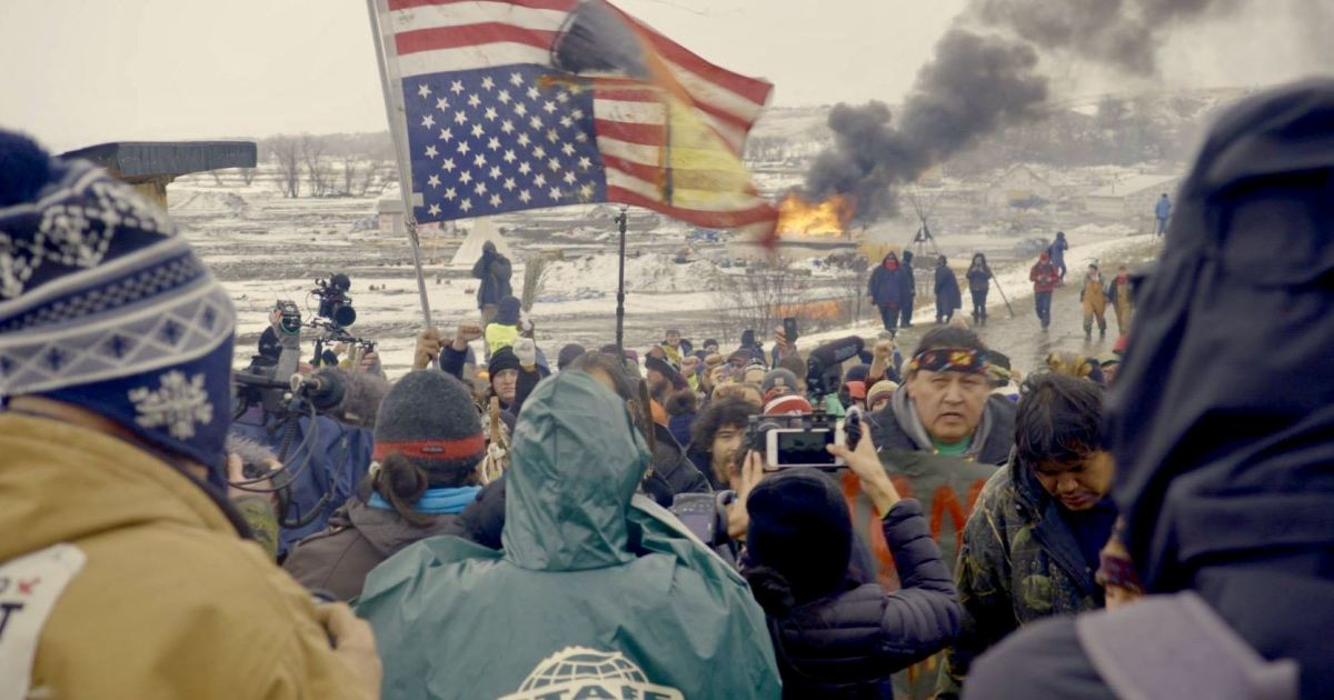 """Water protectors featured in """"End of the Line: The Women of Standing Rock,"""" directed and produced by Shannon Kring and co-produced by Pearl Daniel Means. (Courtesy image)"""