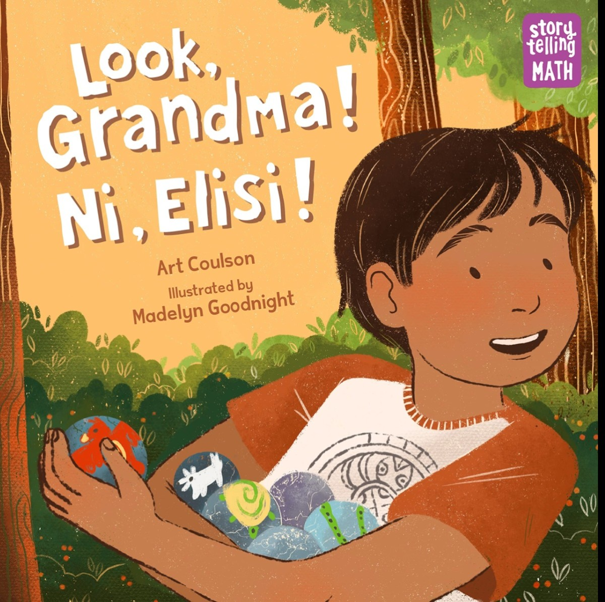 """Cherokee author Art Coulson is winning acclaim for his line of books for children and youths. His latest book, """"Look, Grandma! Ni, Elisi!,"""" released in 2021, is part of Charlesbridge's Storytelling Math series of picture books. It is illustrated by Madelyn Goodnight. (Photo courtesy of Charlesbridge)"""