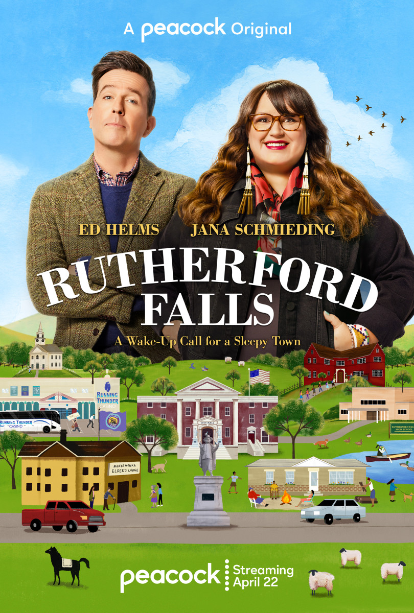 New Rutherford Falls promotional series poster (Peacock TV)