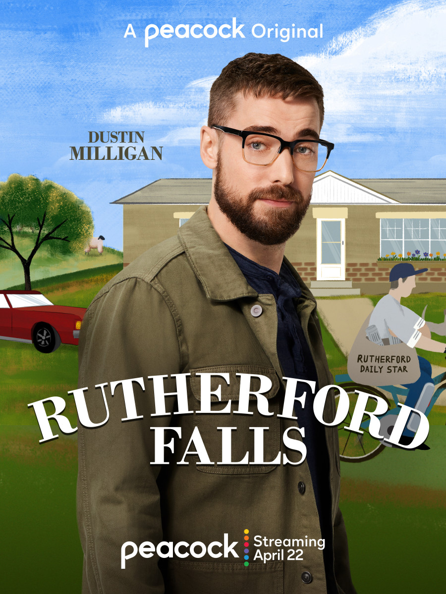 Josh Carter (Dustin Milligan) is a passionate journalist looking for the real story of Rutherford Falls. (Peacock TV)