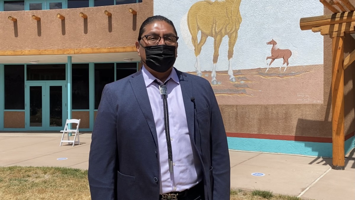 Brian Vallo is a three-time governor of Acoma Pueblo who attended the event. (Photo by Aliyah Chavez, Indian Country Today)