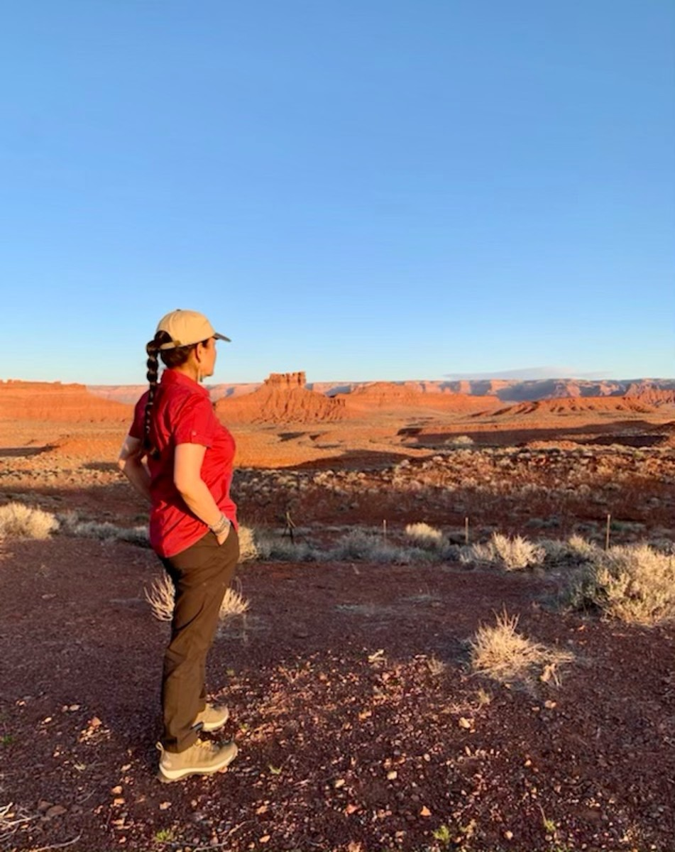 """""""The earth holds so much power. We must all work together to honor it. Photo at Valley of the Gods, Bears Ears #Utah"""" (Photo courtesy of Interior Secretary Deb Haaland via Twitter)"""
