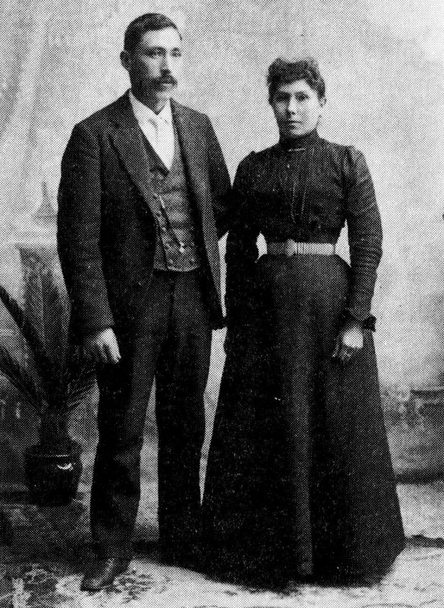 Henry Cayou and his wife, Mary Reed, were married 24 years until her death in 1912. Cayou was the son of a Lummi/Saanich mother and French-American father. Reed's father was Irish-American and her mother Tlingit. Islanders in the Pacific Northwest want to rename a waterway for Henry Cayou. (Photo courtesy of the Karen Jones-Lamb family)