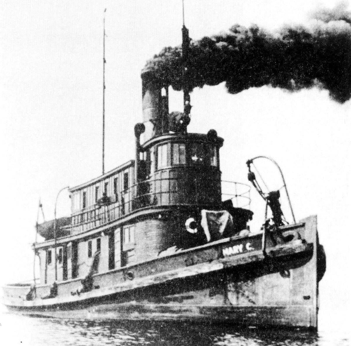 Henry Cayou named his steam tug the Mary C in honor of his wife. At 103 feet, it was a sizable tug for its time. Islanders in the Pacific Northwest want to name a waterway for Cayou, who died in 1959. (Photo courtesy of the Karen Jones-Lamb family)
