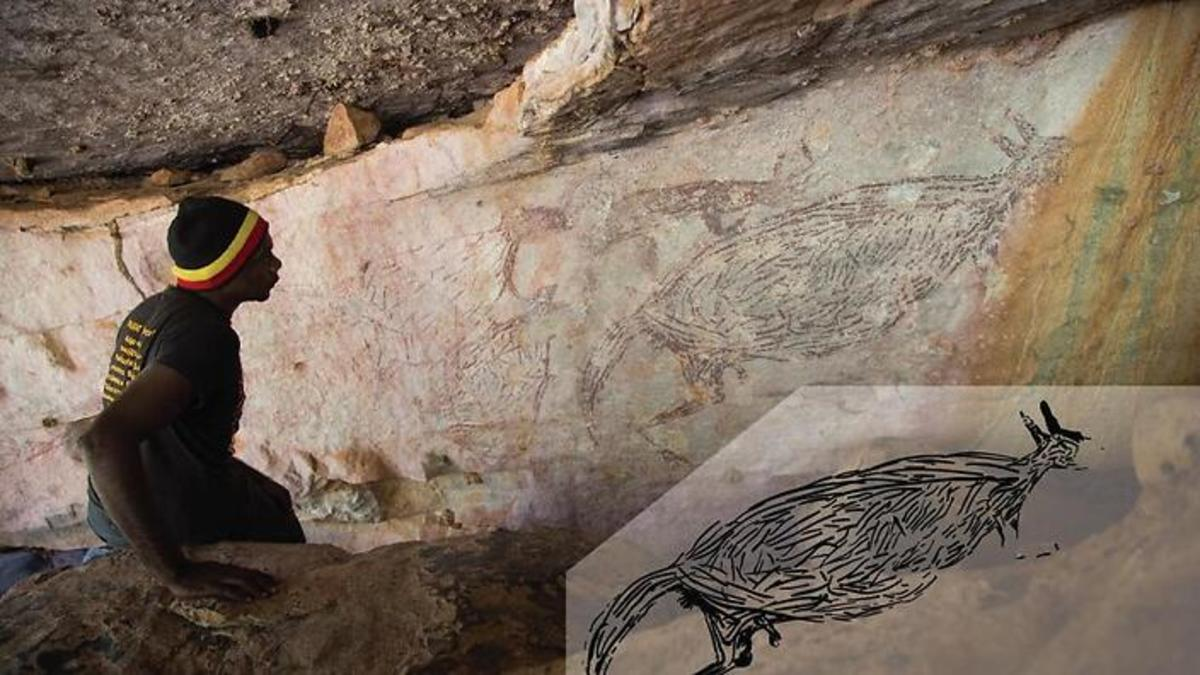 Australia's oldest known Indigenous rock painting