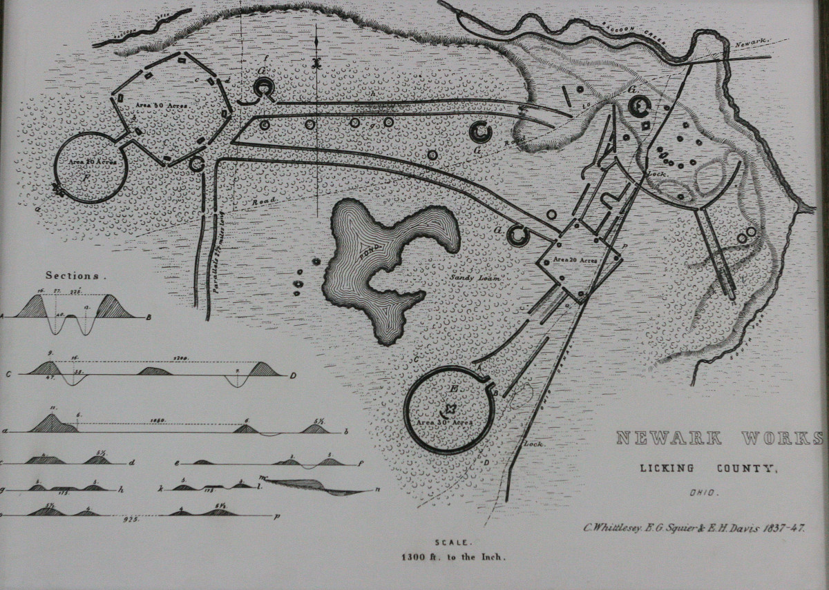 Map of Newark Earthworks (Photo by Mary Annette Pember)