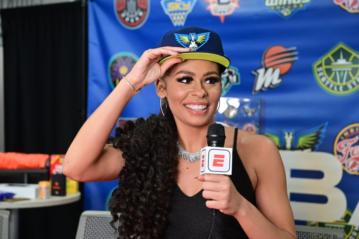 Dallas Wings rookie Chelsea Dungee, Cherokee, April 15, 2021. (Photo courtesy of Dallas Wings)