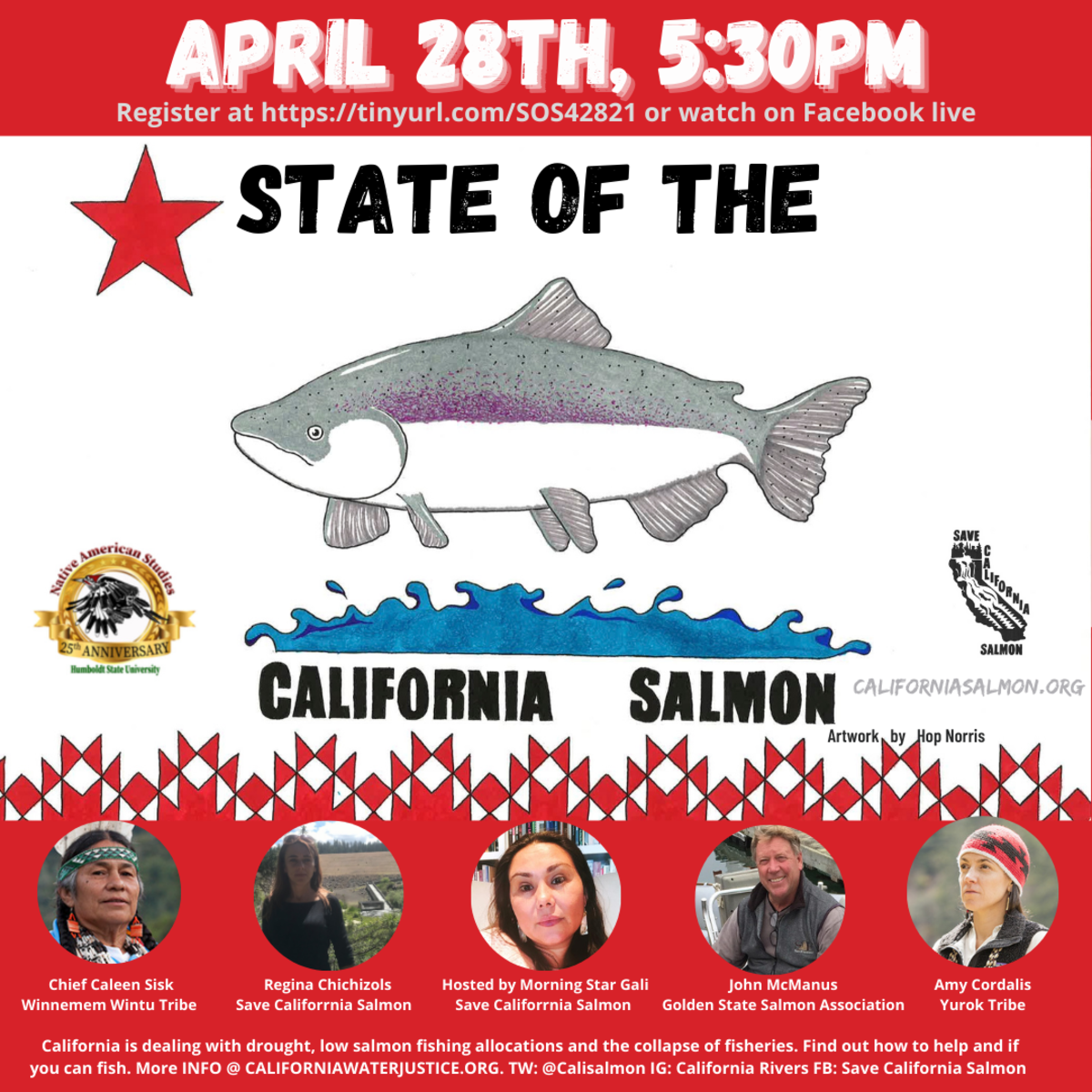 """""""State of the California Salmon"""" flyer."""