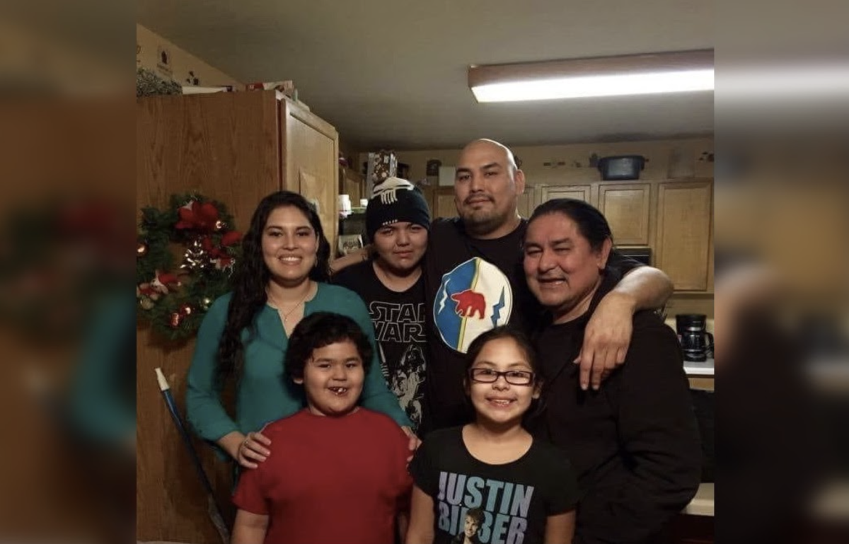 Robert Begay with his family. (Photo courtesy of Faith Begay-Dominique)