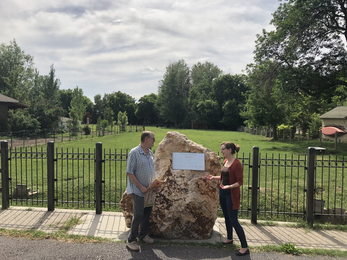 The old Chief Terikee monument site in Harrisville, Utah. A restoration is planned to be dedicated on May 1, 2021. (Photo courtesy of Weber County Heritage Foundation)