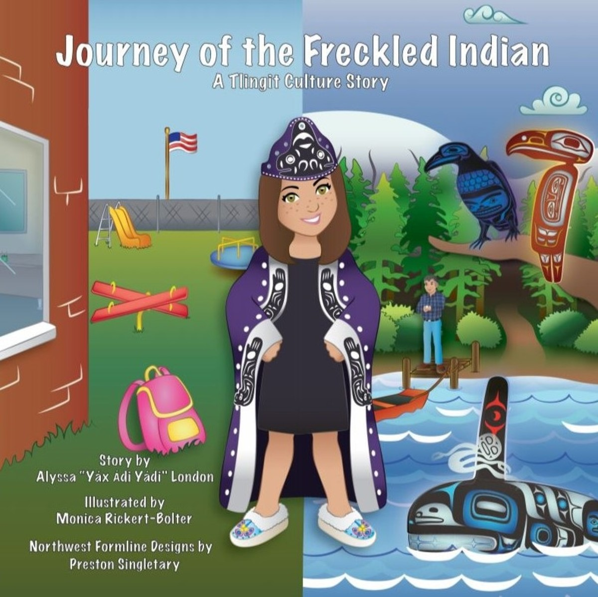 """The children's book, """"Journey of the Freckled Indian,"""" written by former Miss Alaska USA Alyssa London, Tlingit, is now being made into a series of books and television programs. (Photo courtesy of Alyssa London)"""