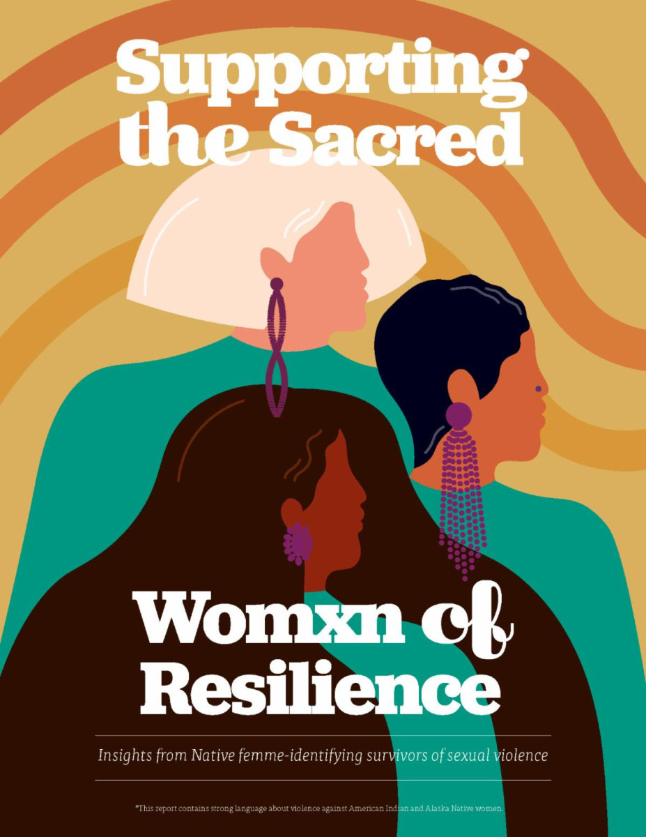 Pictured: Supporting the Sacred: Womxn of Resilience report is the fourth report of the Urban Indian Health Institute's Our Bodies, Our Stories project.