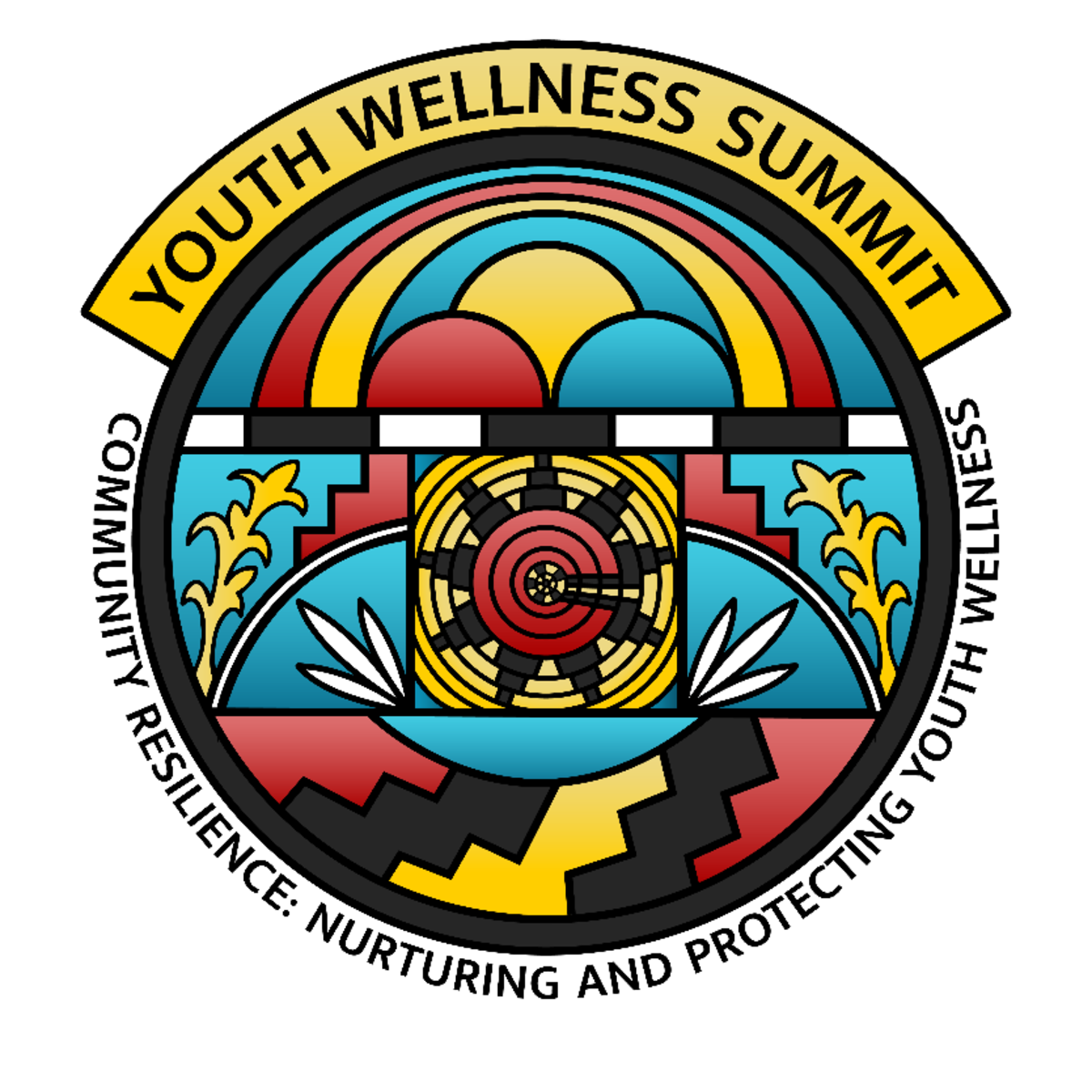 Pictured: The 2021 Indigenous Youth Wellness Summit logo.