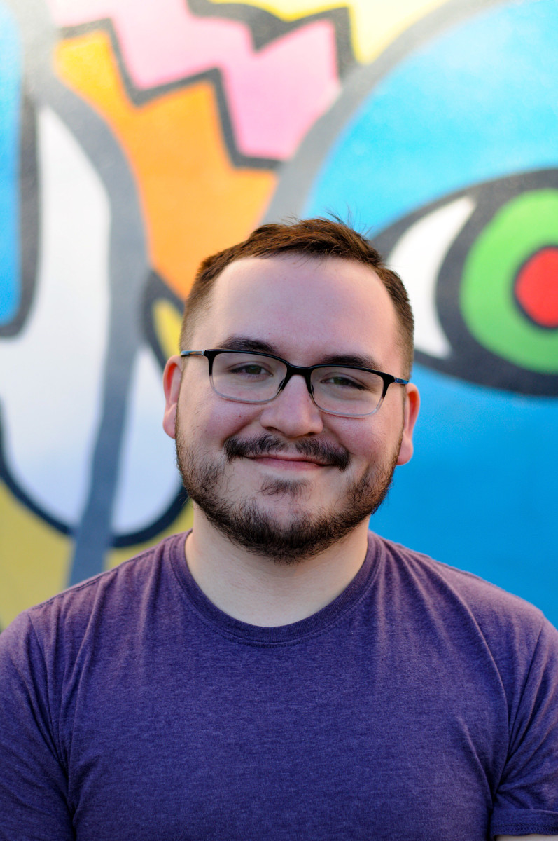 Pictured: Catawba artist Alex Osborn will appear as the Native American Studies Center's Contemporary Artist-in-Residence from May through August, demonstrating his work with photography, digital collage, and drawing.