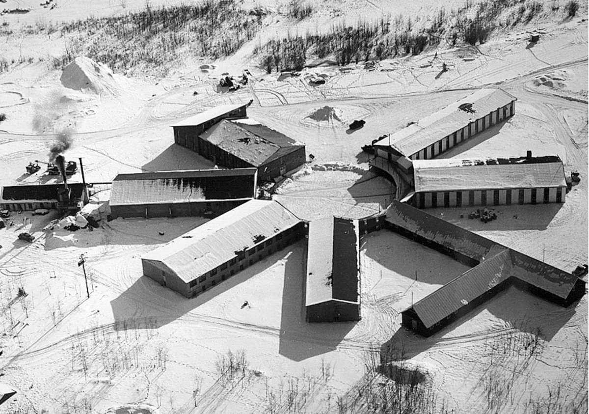 The Copper Valley School in Tazlina, Alaska, was one of 367 Indian boarding schools across the country established in the 19th and 20th centuries. This undated photograph shows the Catholic Church mission school as it once stood. It closed in 1971 and burned in 1976. Now the church wants to sell the land back to the Native Village of Tazlina tribe. (Photo courtesy of Copper Valley School Association)