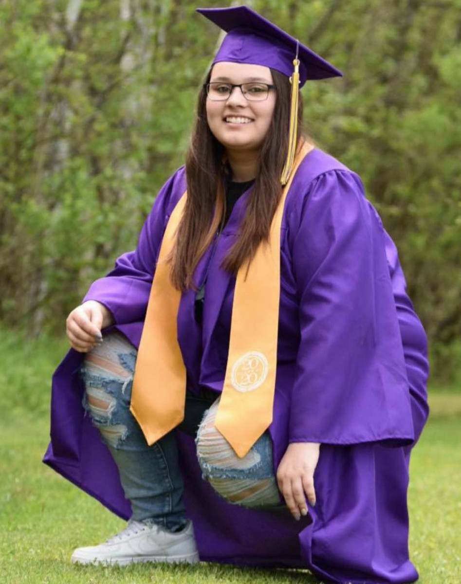 Amber Miller of the Bad River Band of Lake Superior Chippewa tribe graduated in 2020 during the pandemic from Ashland high school in Wisconsin. (Photo courtesy Amber Miller)