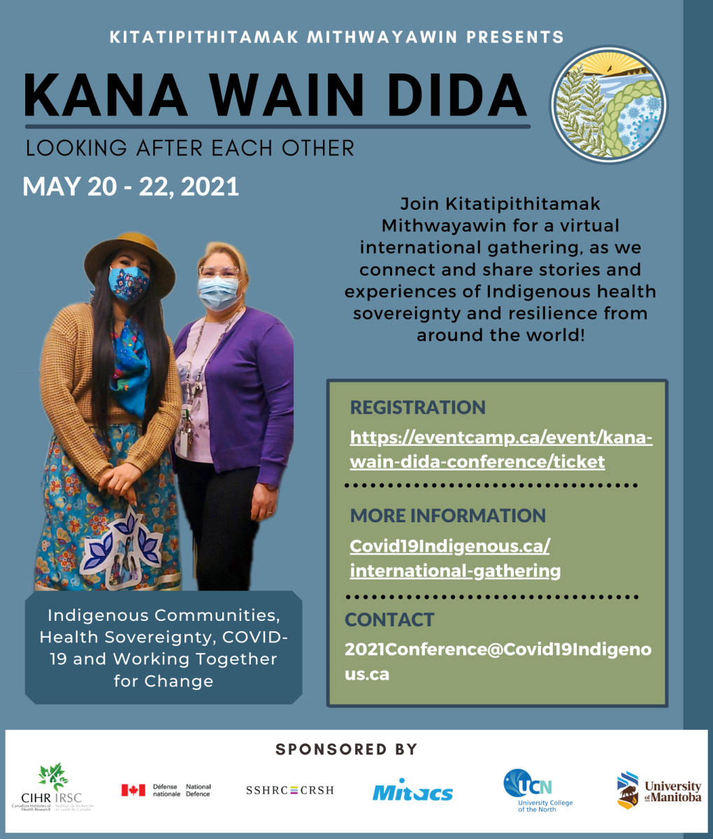 Pictured: Kitatipithitamak Mithwayawin Research Education Project presents a virtual international gathering on Indigenous-led responses to COVID-19.