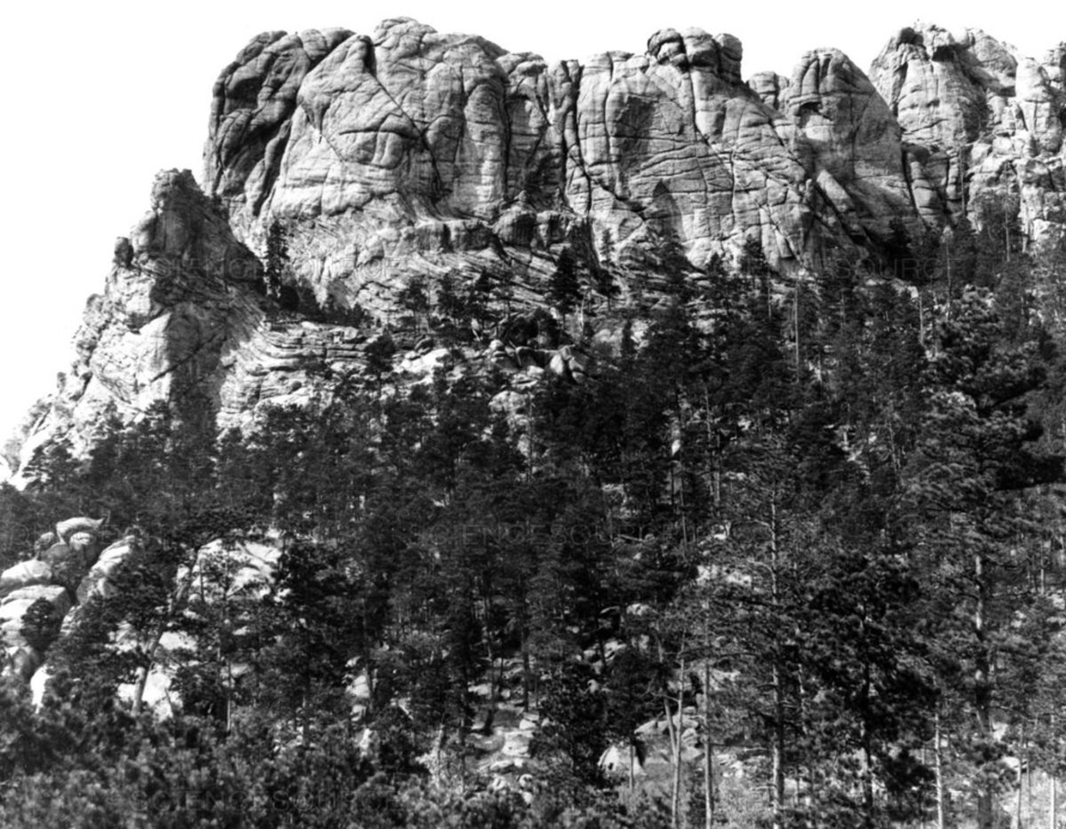 Pictured: Six Grandfathers before it was desecrated with construction of the Mount Rushmore National Memorial.