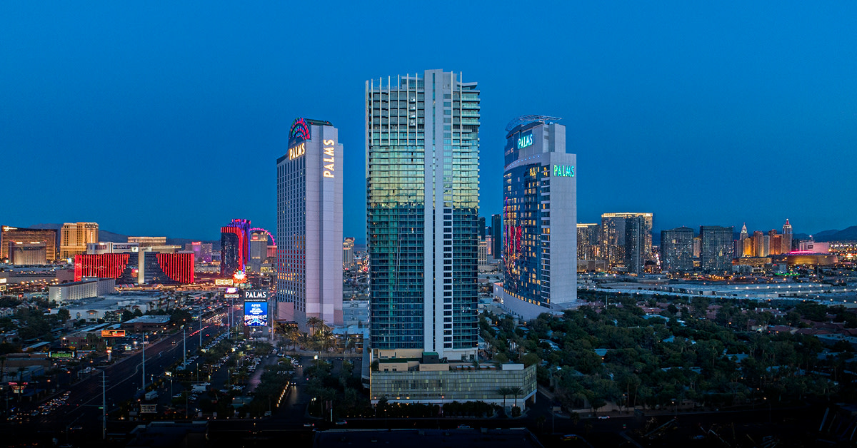 The Palms Casino Resort is located west of the Las Vegas Strip. (Photo courtesy of the San Manuel Band of Mission Indians)