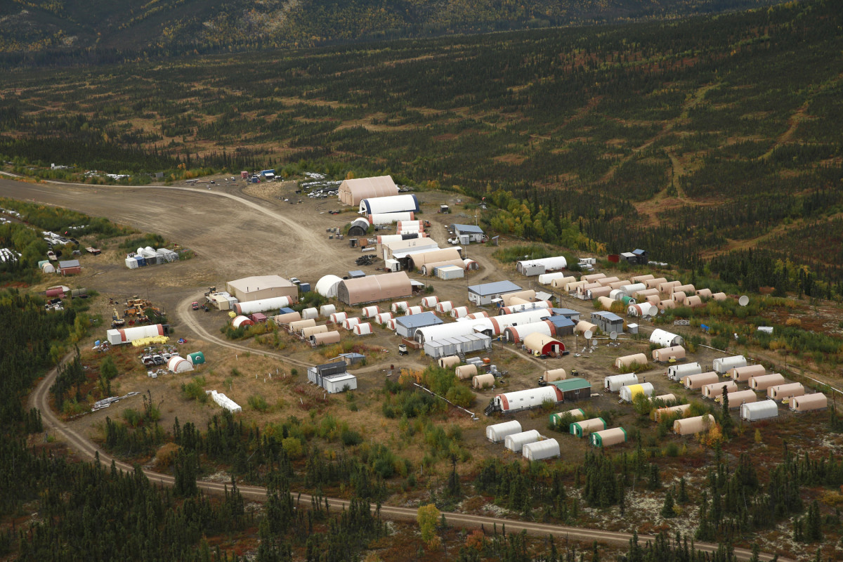 Donlin Gold in May 2021 announced it would be continuing its exploratory drilling near Crooked Creek in western Alaska. Shown here: Donlin's base camp. (Photo courtesy of Donlin Gold).