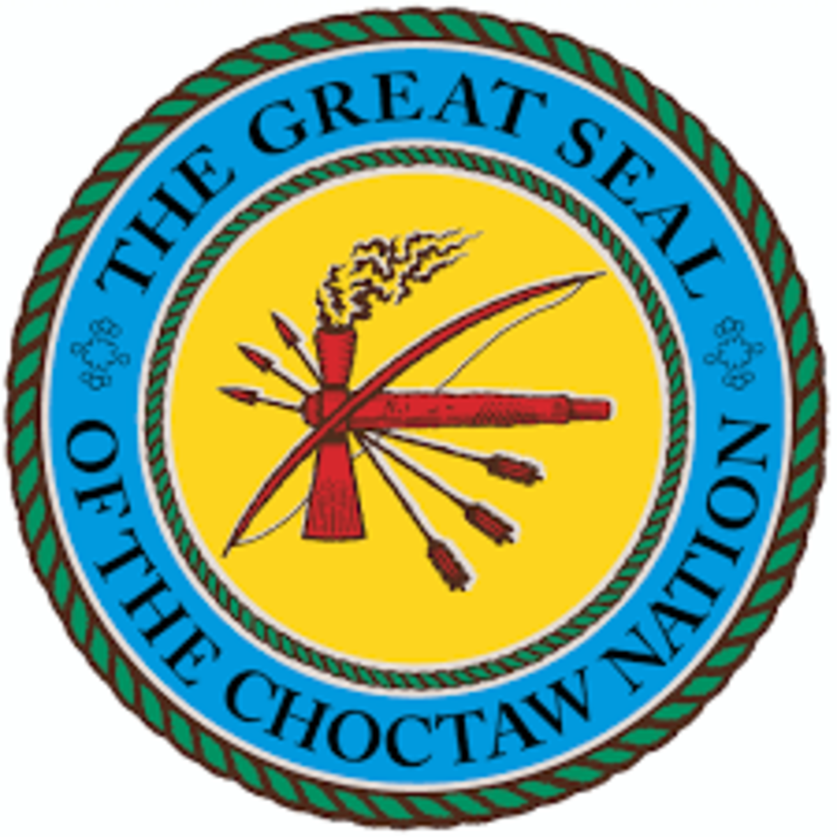 Pictured: The Great Seal of the Choctaw Nation of Oklahoma.