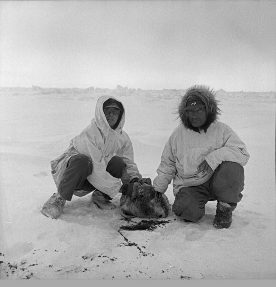 Alaska Native seal hunting in Point Hope. (Photo courtesy of the Anchorage Museum at Rasmuson Center).