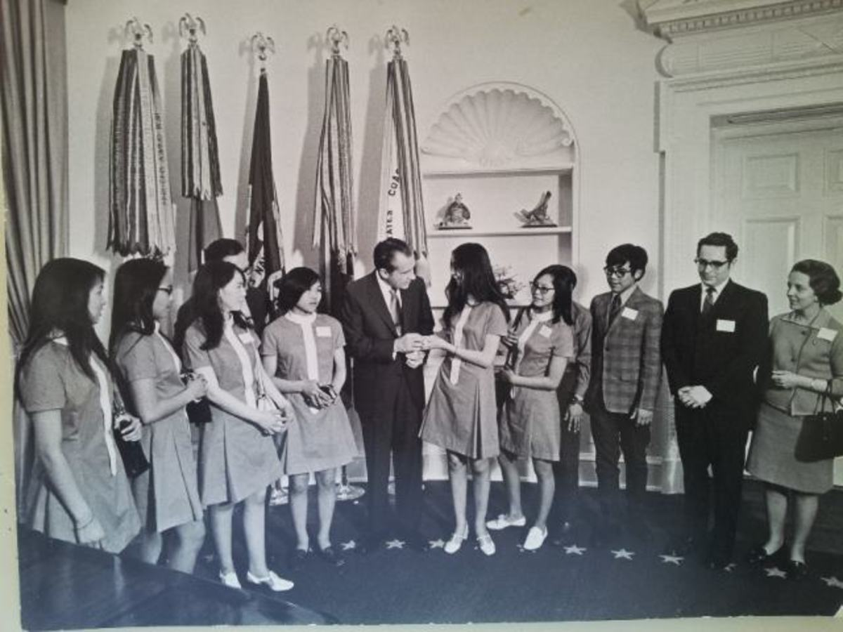 President Nixon meeting with the Bering Straits Native Corporation. (Photo courtesy of the Bering Straits Native Corporation).