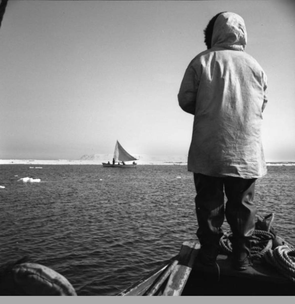 ANCSA: Sailing in ice, Inupiaq boat. (Photo courtesy of the Anchorage Museum at Rasmuson Center)