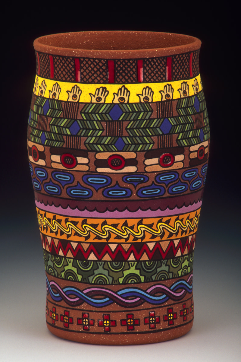 Pictured: Past Time Patterns, 2018, Pottery — Victoria McKinney, Echota Cherokee Tribe of Alabama.