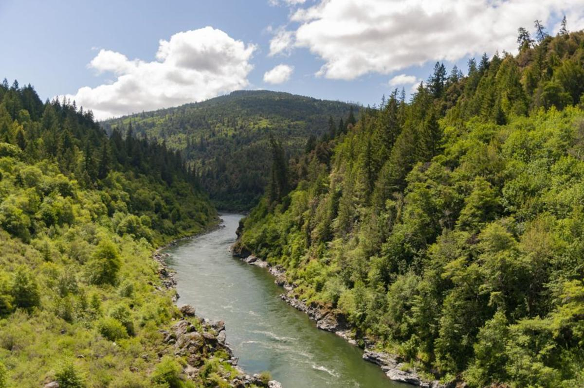 The Klamath River at Martins Ferry, on the Yurok Reservation. (Photo by Alex Schwartz/Herald and News)