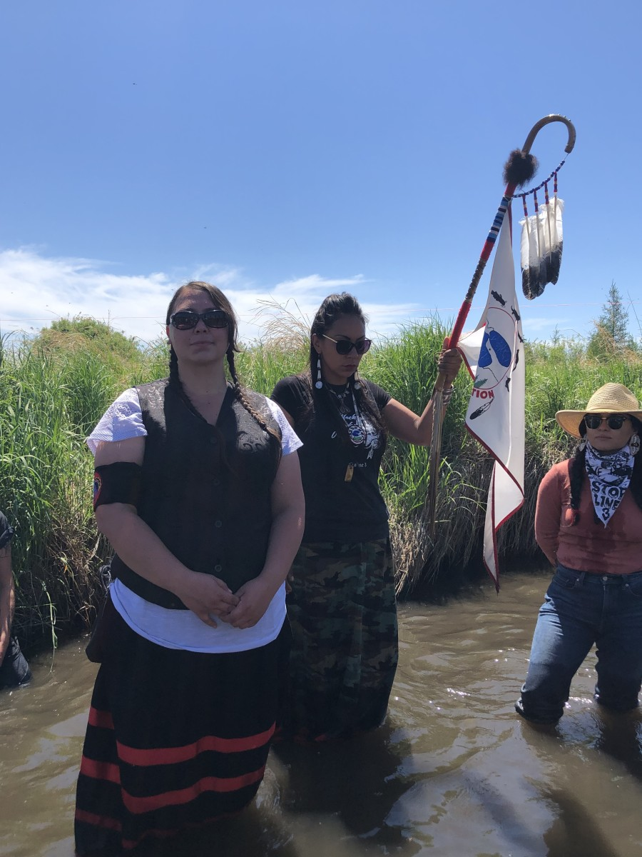 Pictured: Line 3 water protectors.