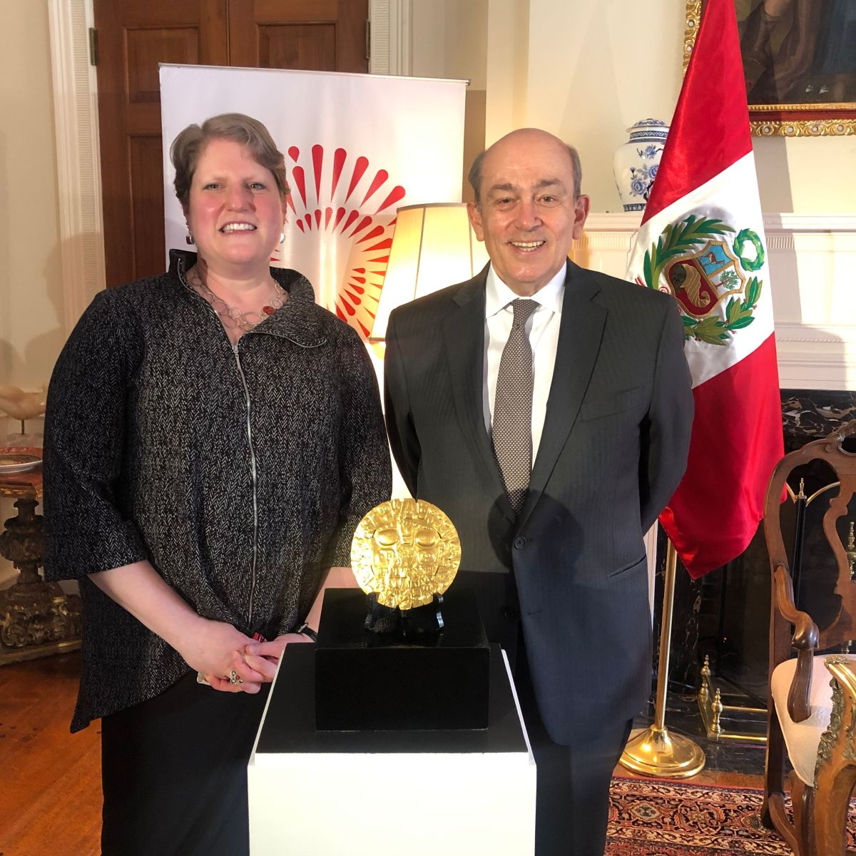 Pictured: Hugo de Zela, Peruvian ambassador to the United States and Machel Monenerkit, acting director of the National Museum of the American Indian.