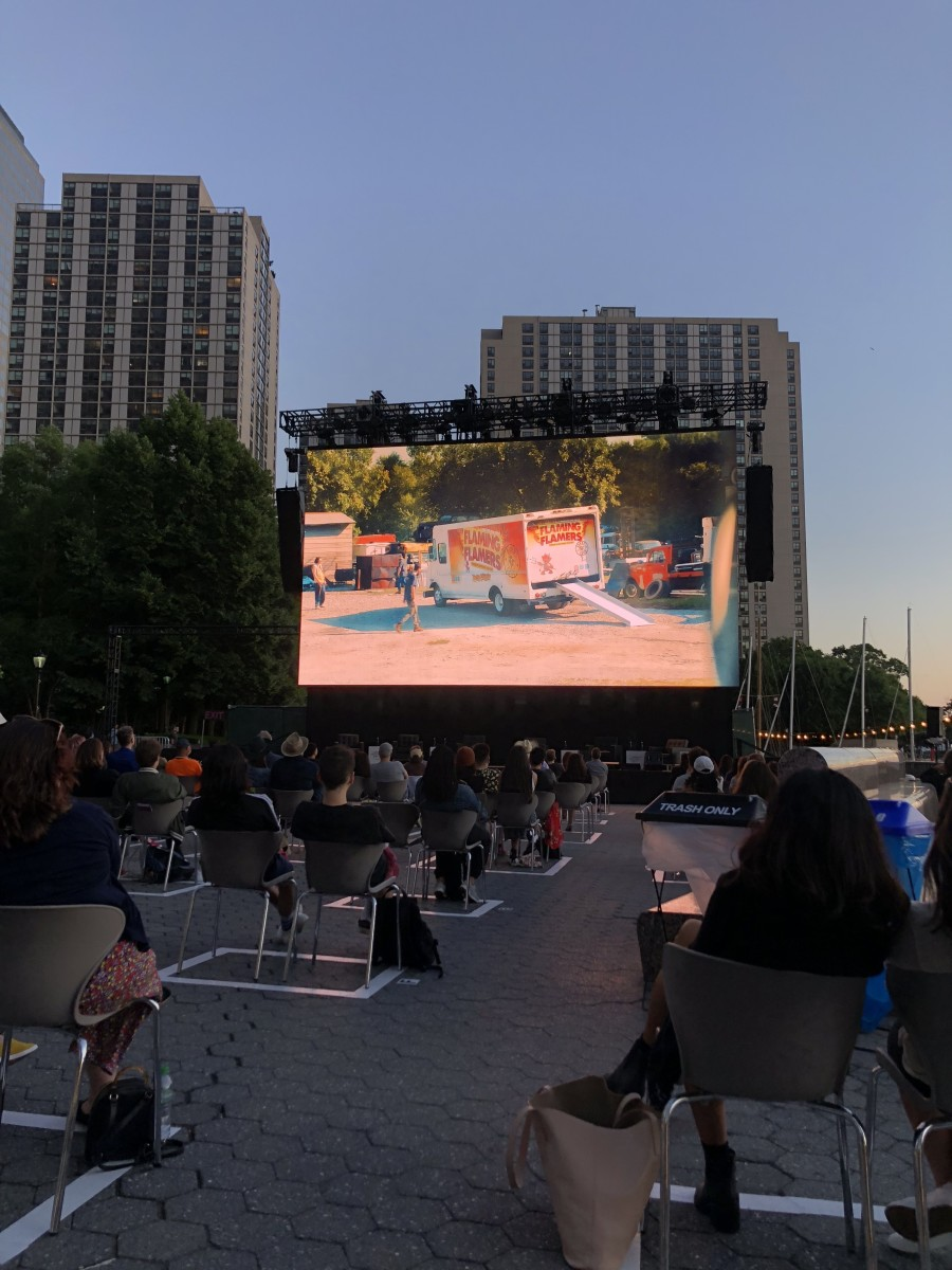 A scene from the premiere of Reservation Dogs at Tribeca Festival on June 15, 2021. (Photo courtesy of Meghan Sullivan, Indian Country Today)
