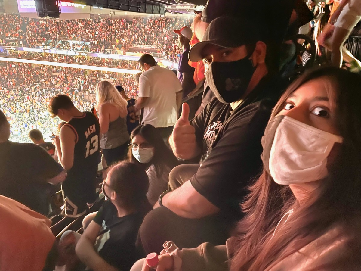 Tasha's family at game one of the Phoenix Suns against the Los Angeles Clippers on Father's Day. (Photo courtesy of Tasha Silverhorn)