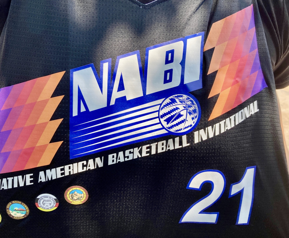 The new NABI jersey for the 2021 tournament. (Photo by Dalton Walker/Indian Country Today)
