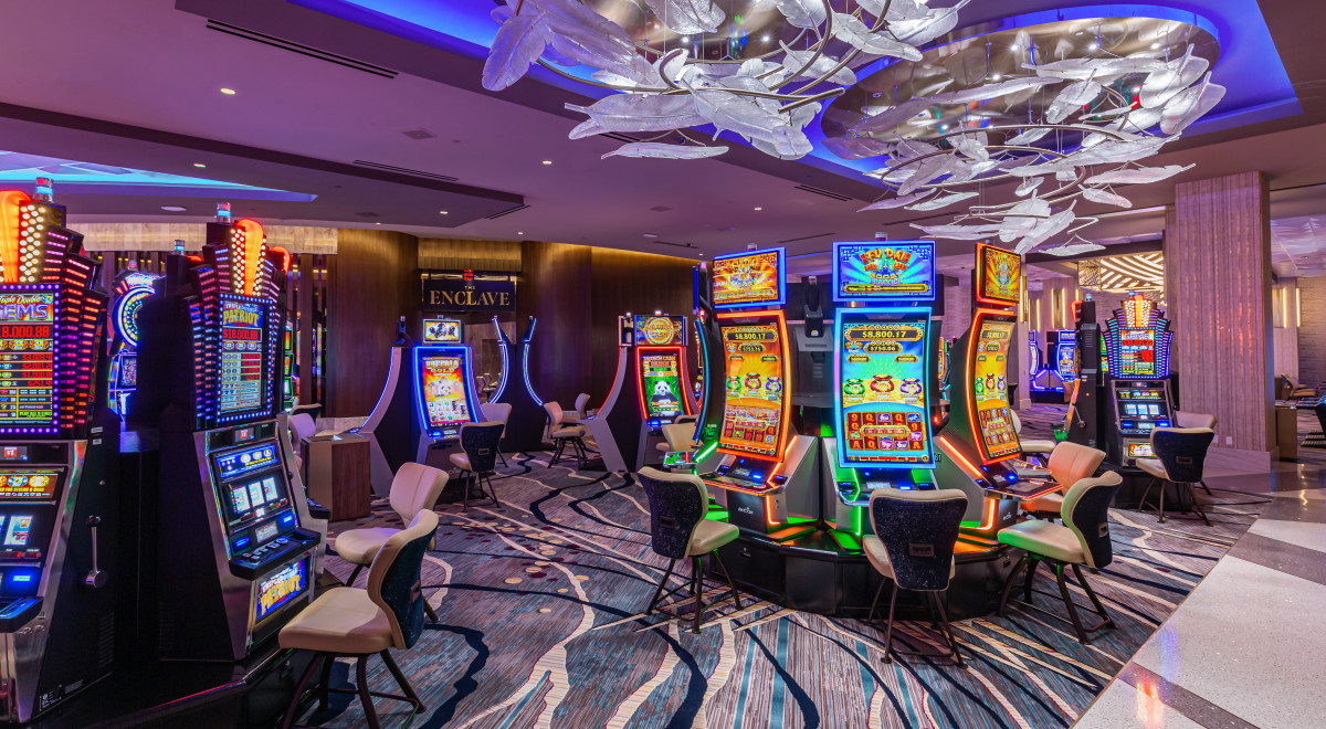 Pictured: San Manuel Casino Phase One expansion — Slots Floor, Enclave.
