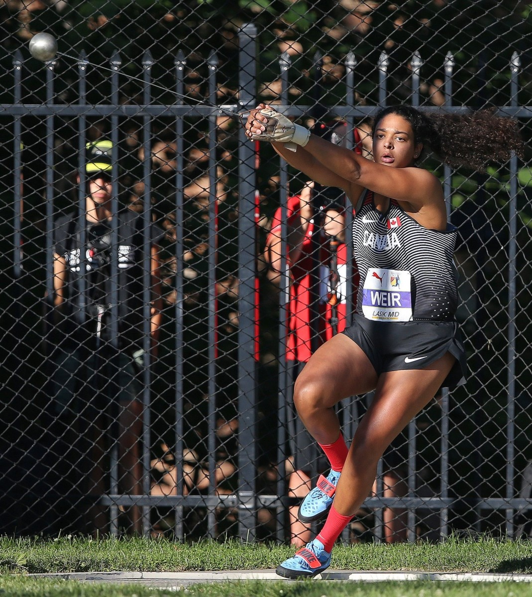 Athlete Jillian Weir is representing Canada in the hammer-throwing competition in the Olympic Games set to start July 23, 2021, in Tokyo. She's a citizen of the Mohawks of the Bay of Quinte from the Tyendinaga Territory and is among dozens of Indigenous athletes participating in the games. (Photo courtesy of Claus Andersen)