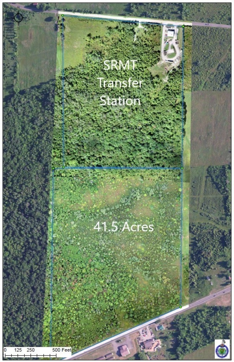 Pictured: A diagram of the Saint Regis Mohawk Tribe's 41.5 acre parcel of 1796 Treaty Land adjacent to the tribe's Transfer Station.