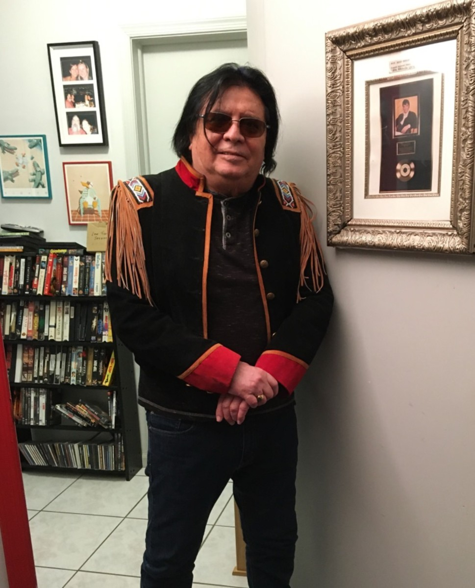 Lee Tiger, who performed starting in the 1960s with his brother Stephen as Tiger Tiger, is releasing remastered songs online. He is shown here in his home. (Photo courtesy of Lee Tiger)