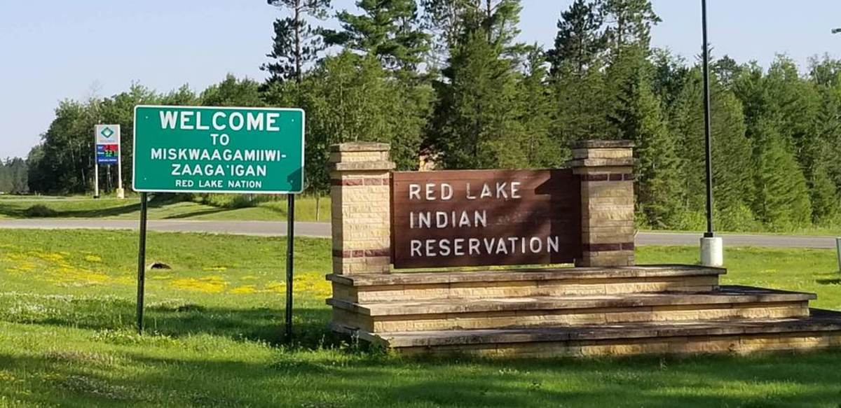 The entrance to the Red Lake Nation in northern Minnesota. (Photo courtesy of Red Lake Police Department)