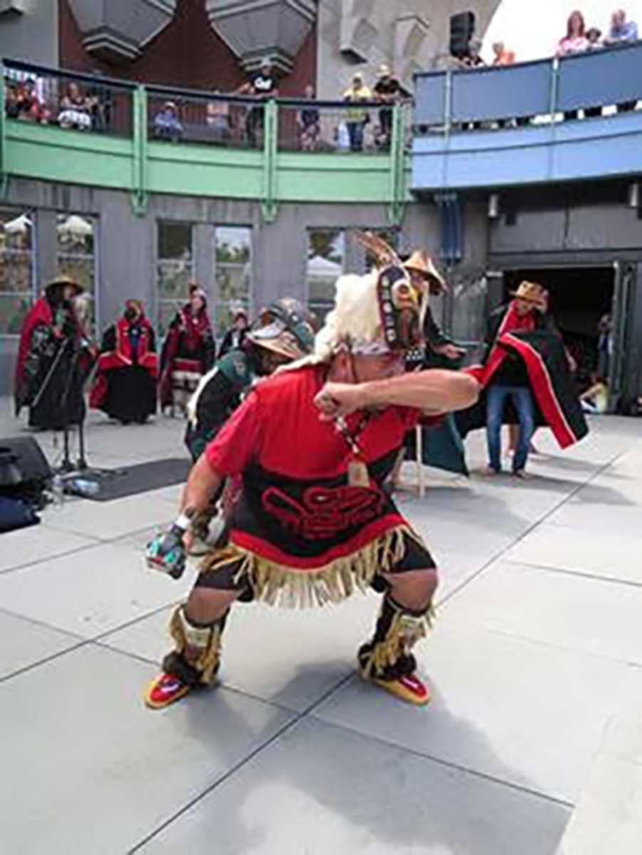 Pictured: Alaska Kuteeyaa Dancers will be hosted by the Washington State History Museum during the 2021 IN THE SPIRIT Arts Market and Northwest Native Festival on August 7.
