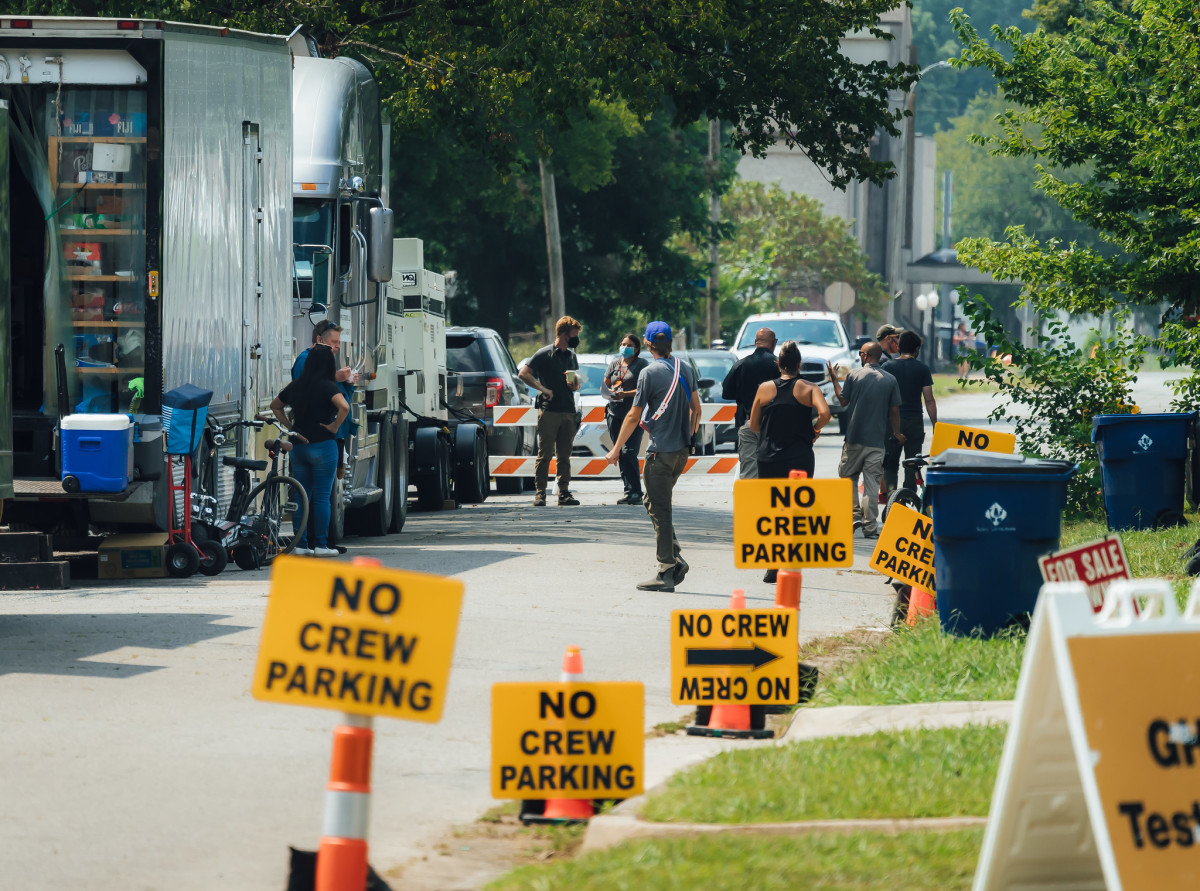"""On set of """"Killers of the Flower Moon."""" Filming is set to continue through mid-September. A release date for the film has yet to be publicized. (Photo courtesy of Cody Hammer, Osage News)"""
