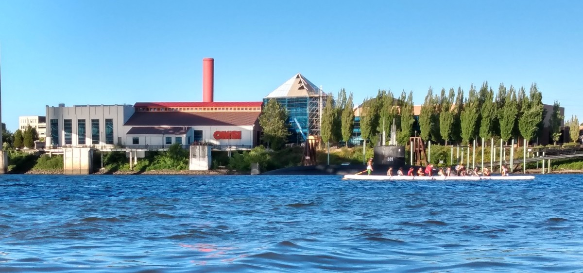 The Oregon Museum of Science and Industry has tapped local tribes and the Indigenous community to help plan a new tribal center and waterfront educational park on its campus along the Willamette River in Portland, Oregon. Officials hope to have approval of the project in early 2022. (Photo by Brian Oaster for Indian Country Today)