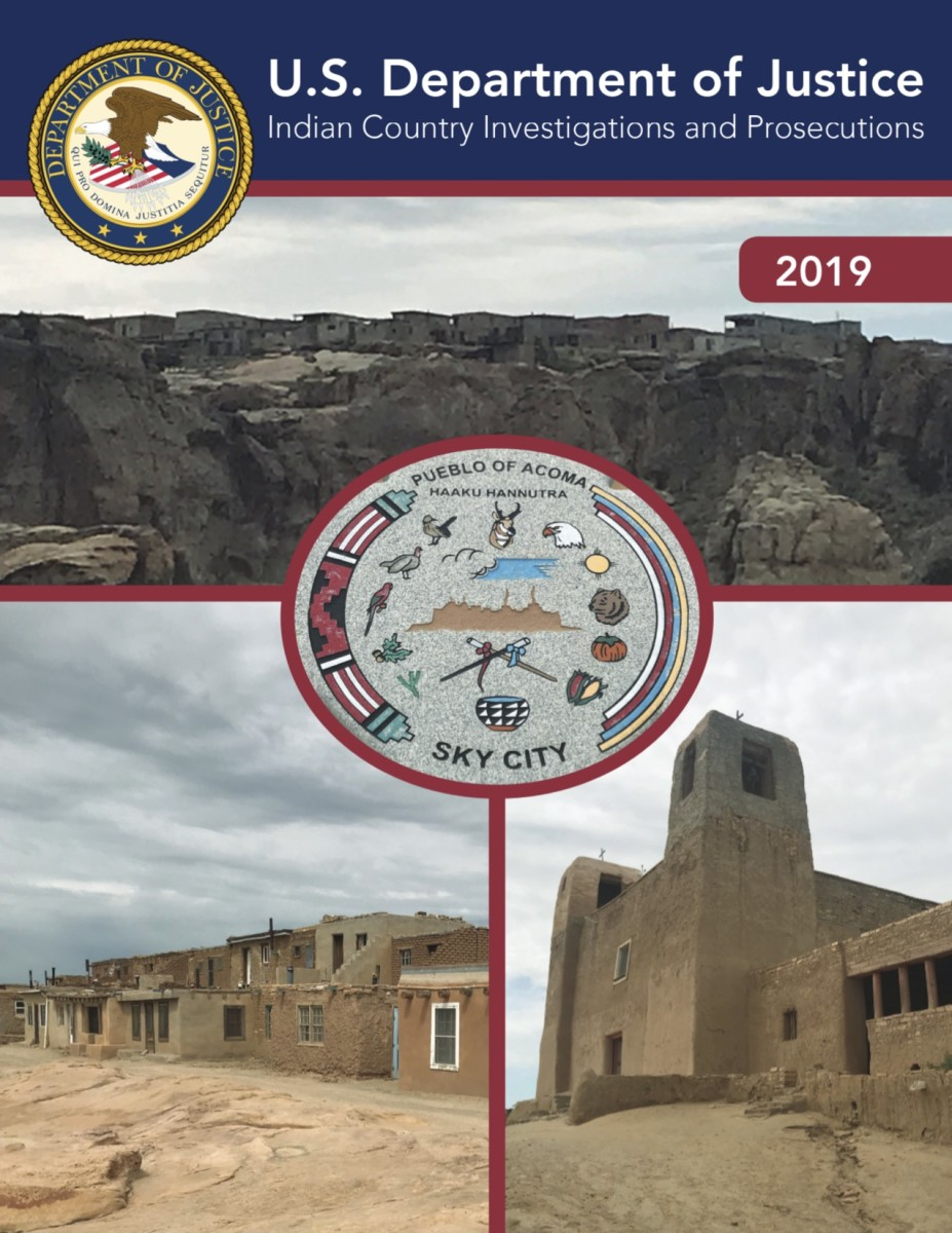 The 2010 Tribal Law and Order Act mandated that the Justice Department prepare an annual report on the number of cases declined by U.S. attorneys and administratively closed by the FBI. The 2019 report is the most recent year available. (Source: Justice Department)