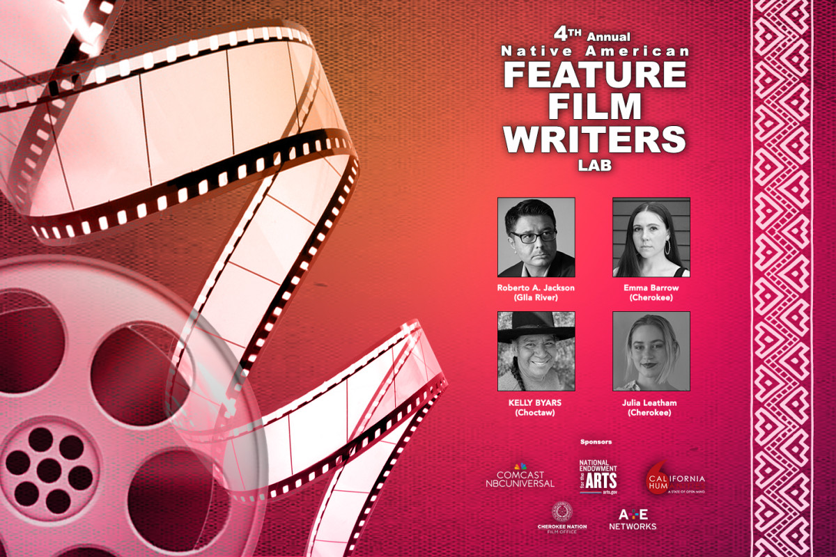 Pictured: The four fellows of the 2021 Native American Feature Film Writers Lab,
