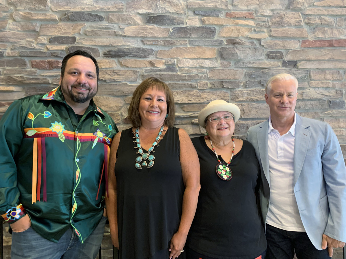 New Pokagon Band Tribal Council members pictured from left to right: Sam Morseau, Secretary; Rebecca Richards, Tribal Chairwoman; Barbara Ann Warren, Elders Representative; and Mark Topash, Member At Large.