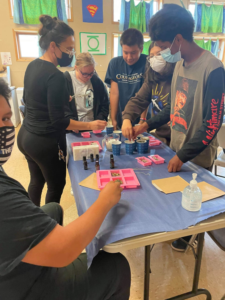 Pictured: Dawn E. LeBeau taught youth how to make soap and deodorant using all-natural ingredients.