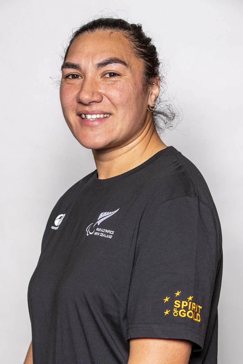 Lisa Adams, Team New Zealand. In February 2018, Lisa Adams became the first woman in the world to play Physical Disability Rugby League (PDRL) nines on the world stage, at the Rugby League Commonwealth Championships with the New Zealand men's squad. They finished second and she was also selected to be the New Zealand flag bearer. (Photo courtesy of Getty Images via Paralympics New Zealand)