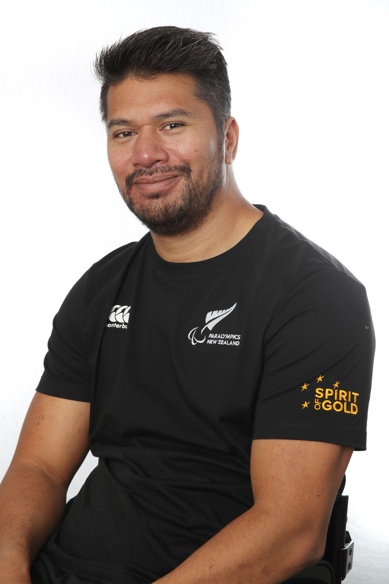 While playing rugby in 2007 a tackle went wrong and Tainafi Lefono sustained a spinal cord injury that left him a C7 tetraplegic. Nafi is a fully qualified Physiotherapist and is currently working in the community as a neuro physiotherapist (Photo courtesy of Getty Images via Paralympics New Zealand)